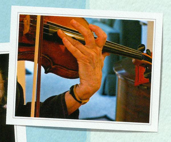 Virginia Euwer Wolff playing violin